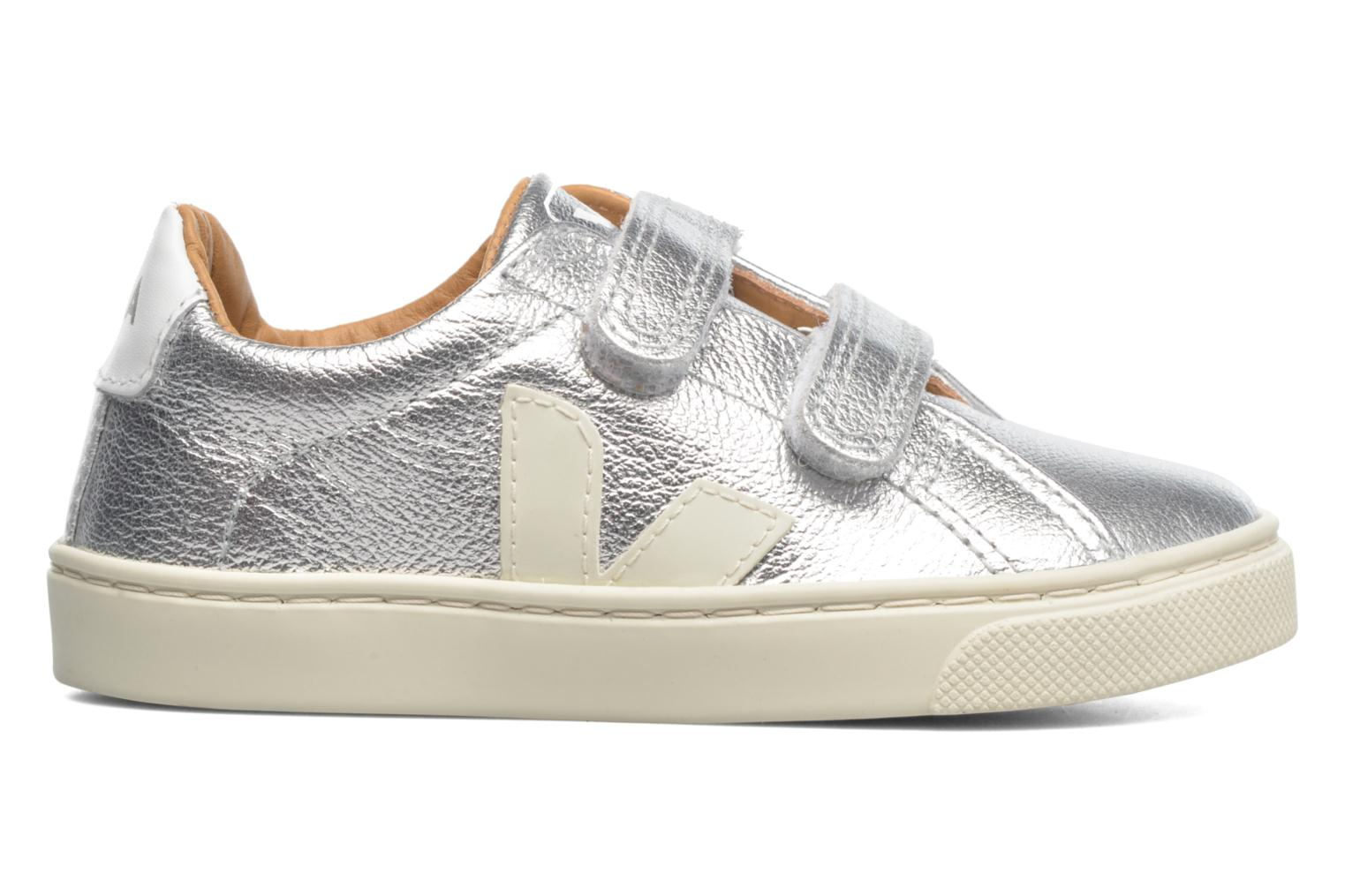 Sneakers Veja Esplar Small Velcro Leather Zilver achterkant