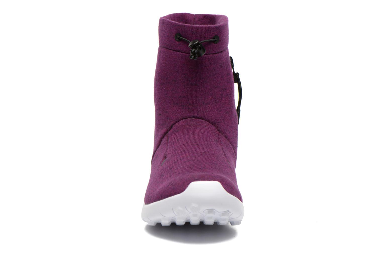 Bottines et boots Nike Wmns Nike Tech Fleece Mid Violet vue portées chaussures
