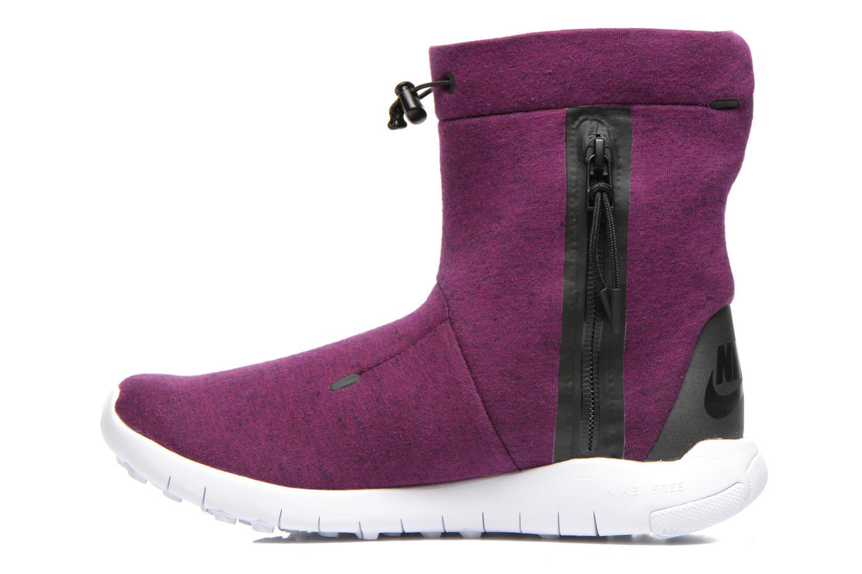 Botines  Nike Wmns Nike Tech Fleece Mid Violeta      vista de frente