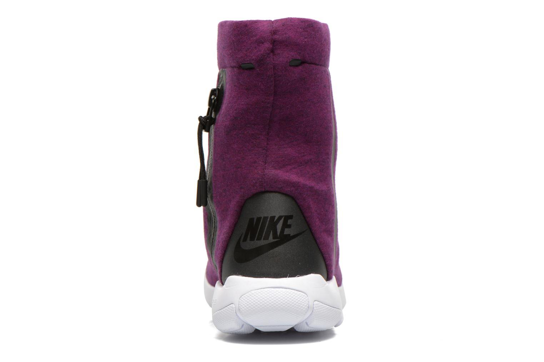 Bottines et boots Nike Wmns Nike Tech Fleece Mid Violet vue droite