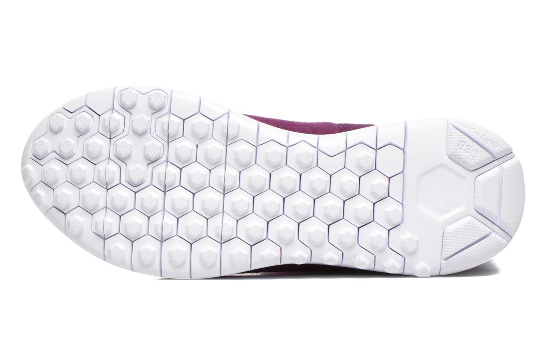Botines  Nike Wmns Nike Tech Fleece Mid Violeta      vista de arriba