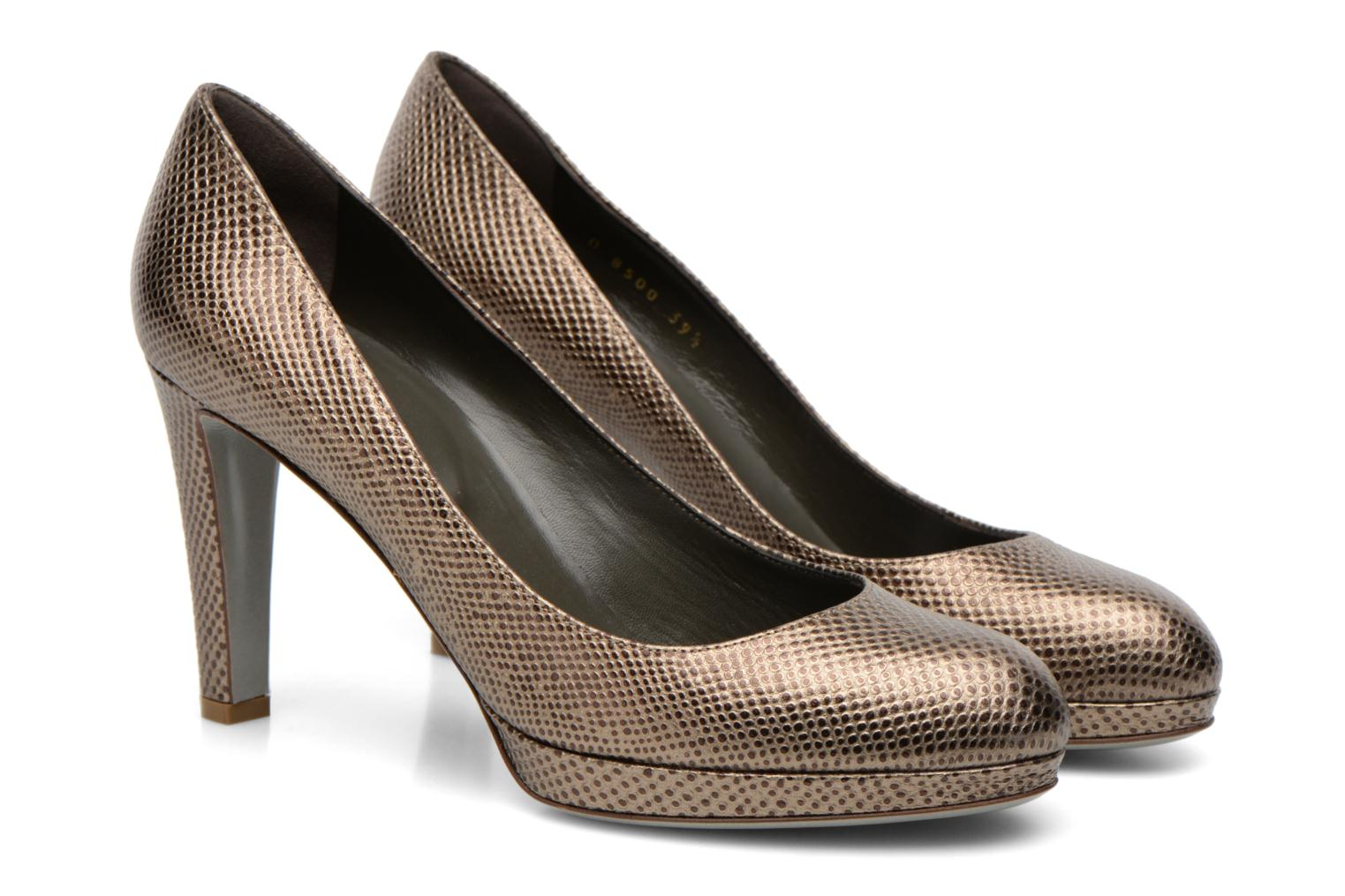 High heels Sergio Rossi Ambra Bronze and Gold 3/4 view