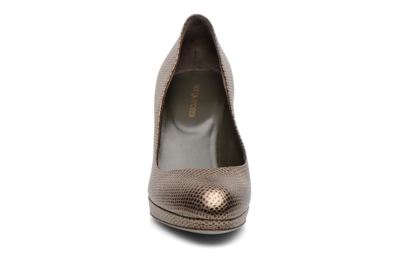 Escarpins Sergio Rossi Ambra Or et bronze vue portées chaussures