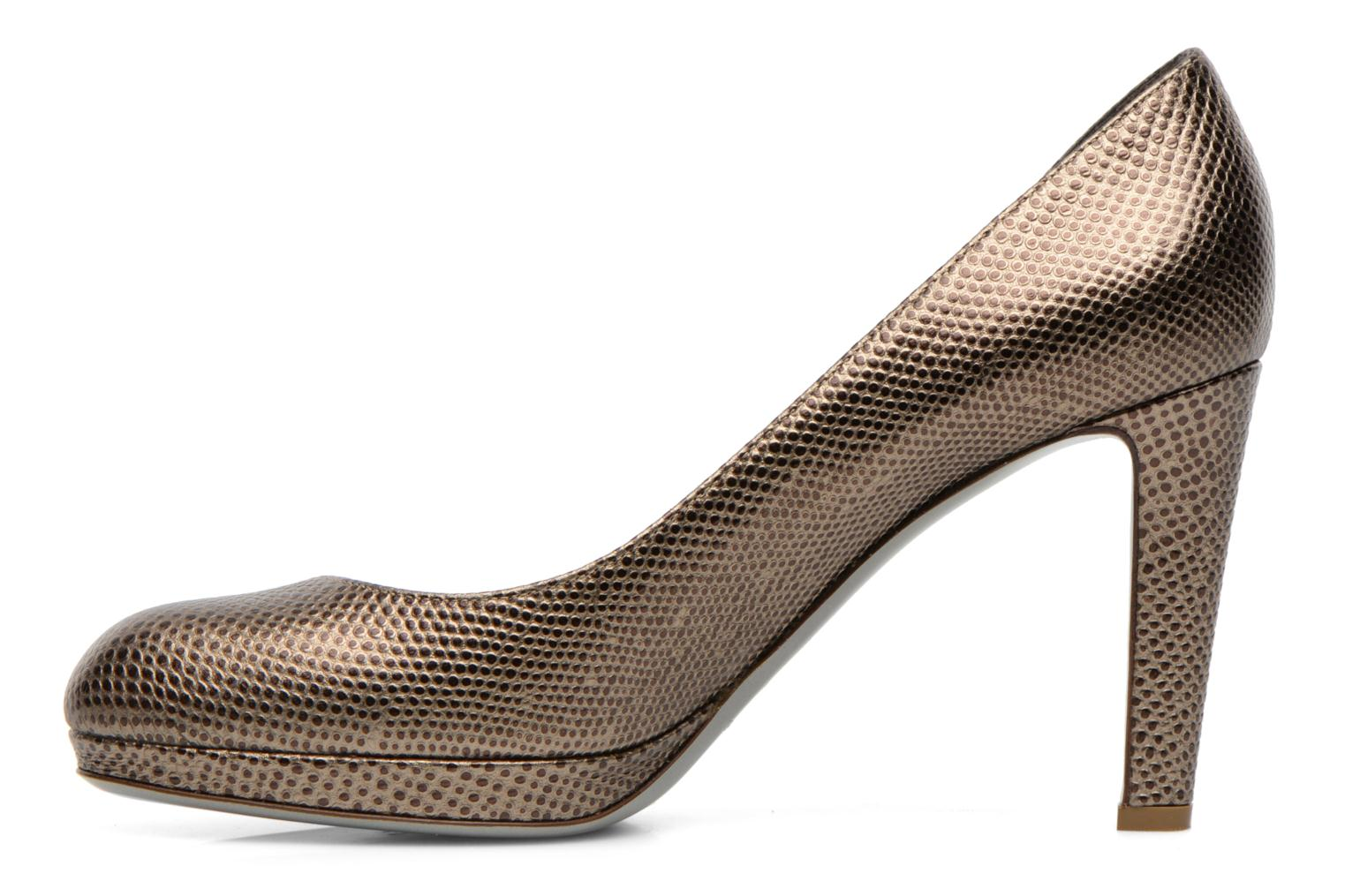 High heels Sergio Rossi Ambra Bronze and Gold front view