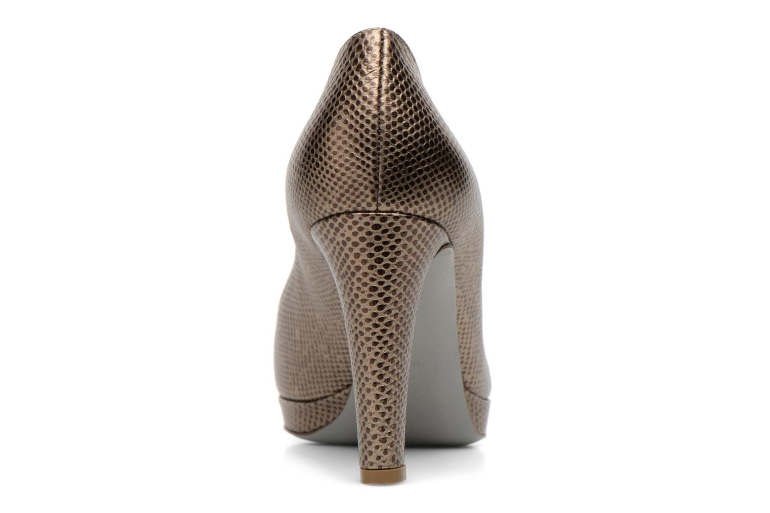 High heels Sergio Rossi Ambra Bronze and Gold view from the right