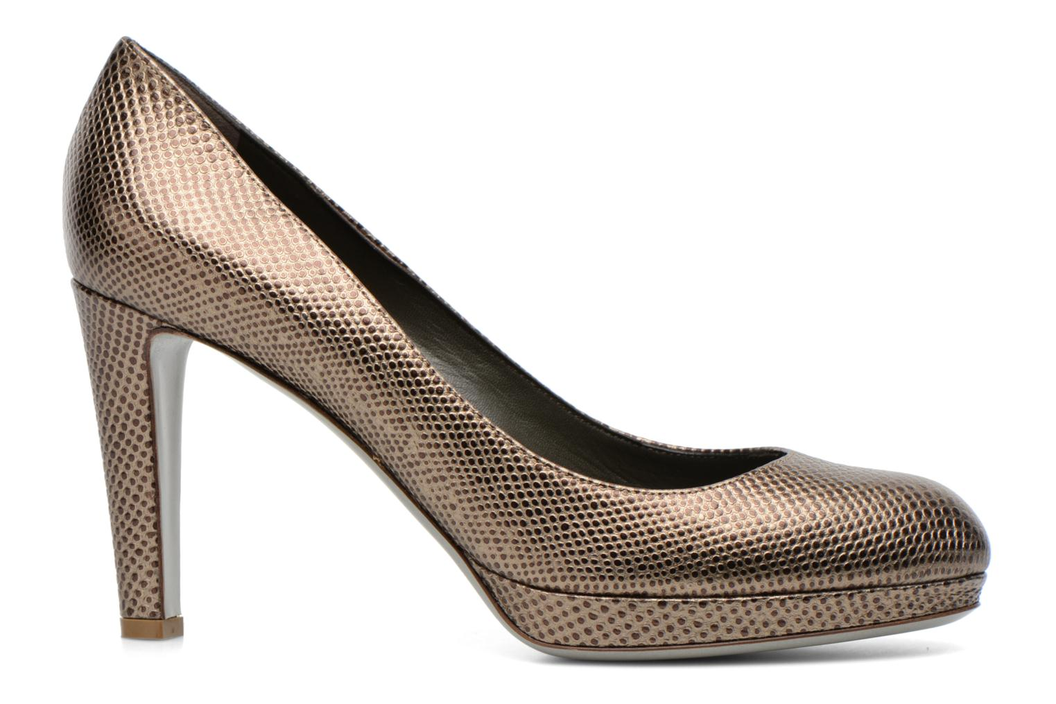 High heels Sergio Rossi Ambra Bronze and Gold back view
