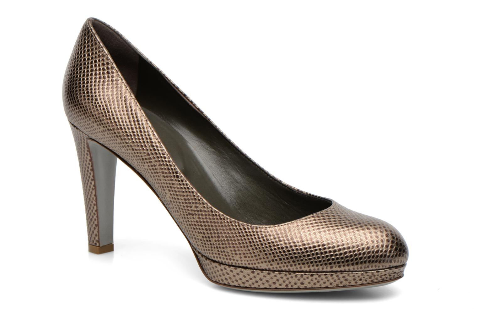 High heels Sergio Rossi Ambra Bronze and Gold detailed view/ Pair view