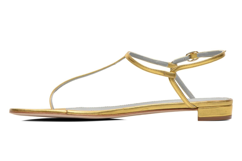 Sandales et nu-pieds Sergio Rossi Elda Or et bronze vue face