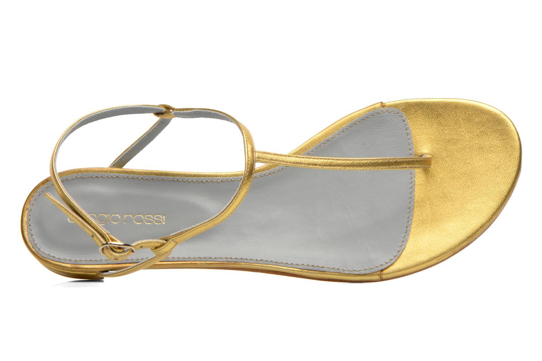 Sandales et nu-pieds Sergio Rossi Elda Or et bronze vue gauche