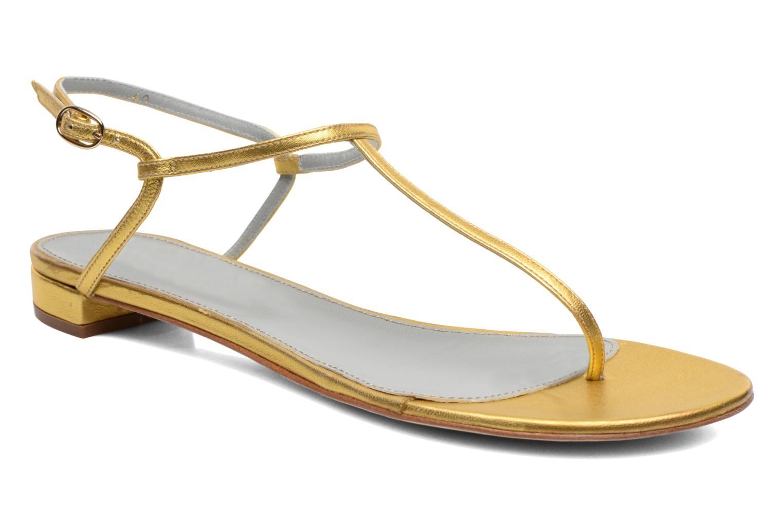 Sandales et nu-pieds Sergio Rossi Elda Or et bronze vue détail/paire