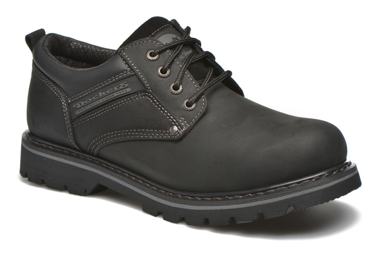 Chaussures à lacets Dockers Vinc Noir vue détail/paire