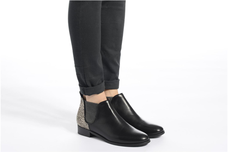 Bottines et boots HE Spring Eva Bleu vue bas / vue portée sac