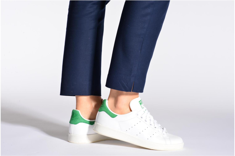 Baskets Adidas Originals Stan Smith Luxe W Blanc vue bas / vue portée sac
