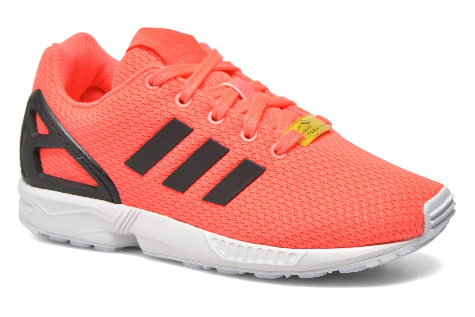 Baskets Adidas Originals Zx Flux K Rose vue détail/paire