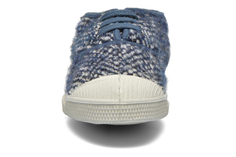 Baskets Bensimon Tennis Girly Tweed E Bleu vue portées chaussures
