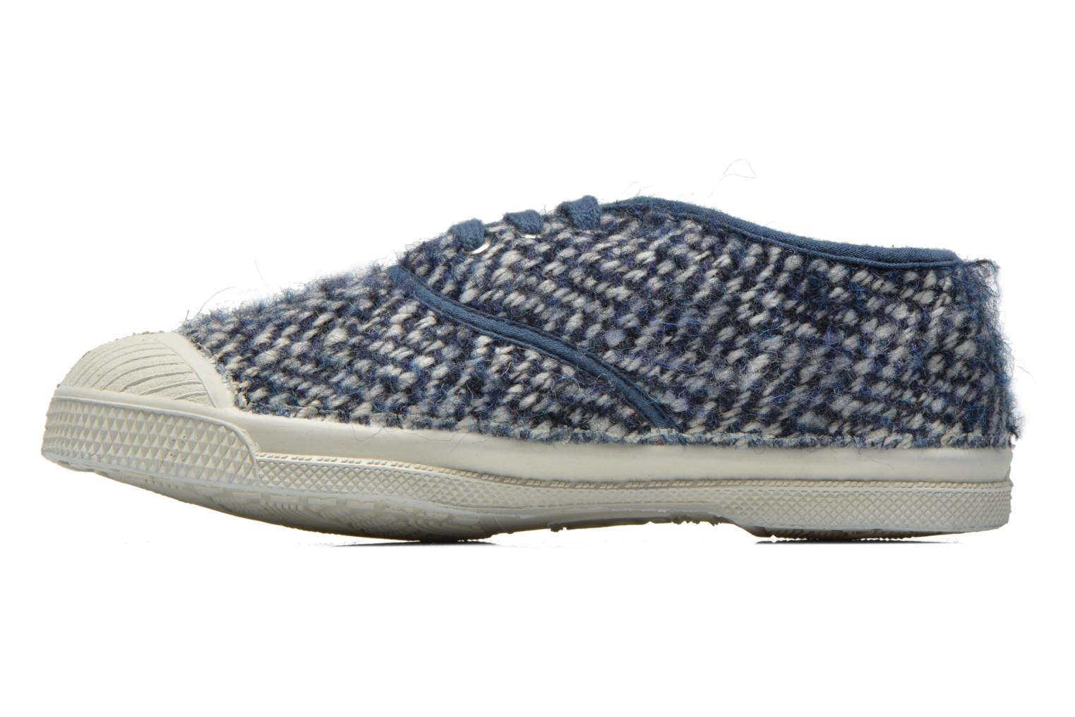 Deportivas Bensimon Tennis Girly Tweed E Azul vista de frente