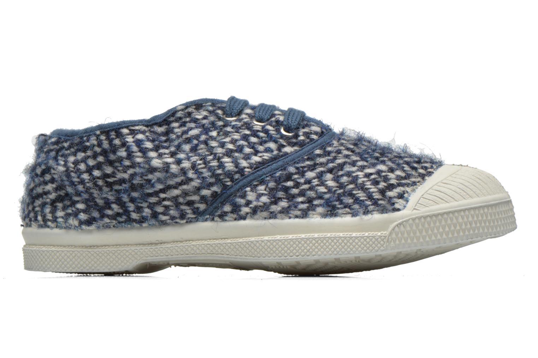 Sneaker Bensimon Tennis Girly Tweed E blau ansicht von hinten