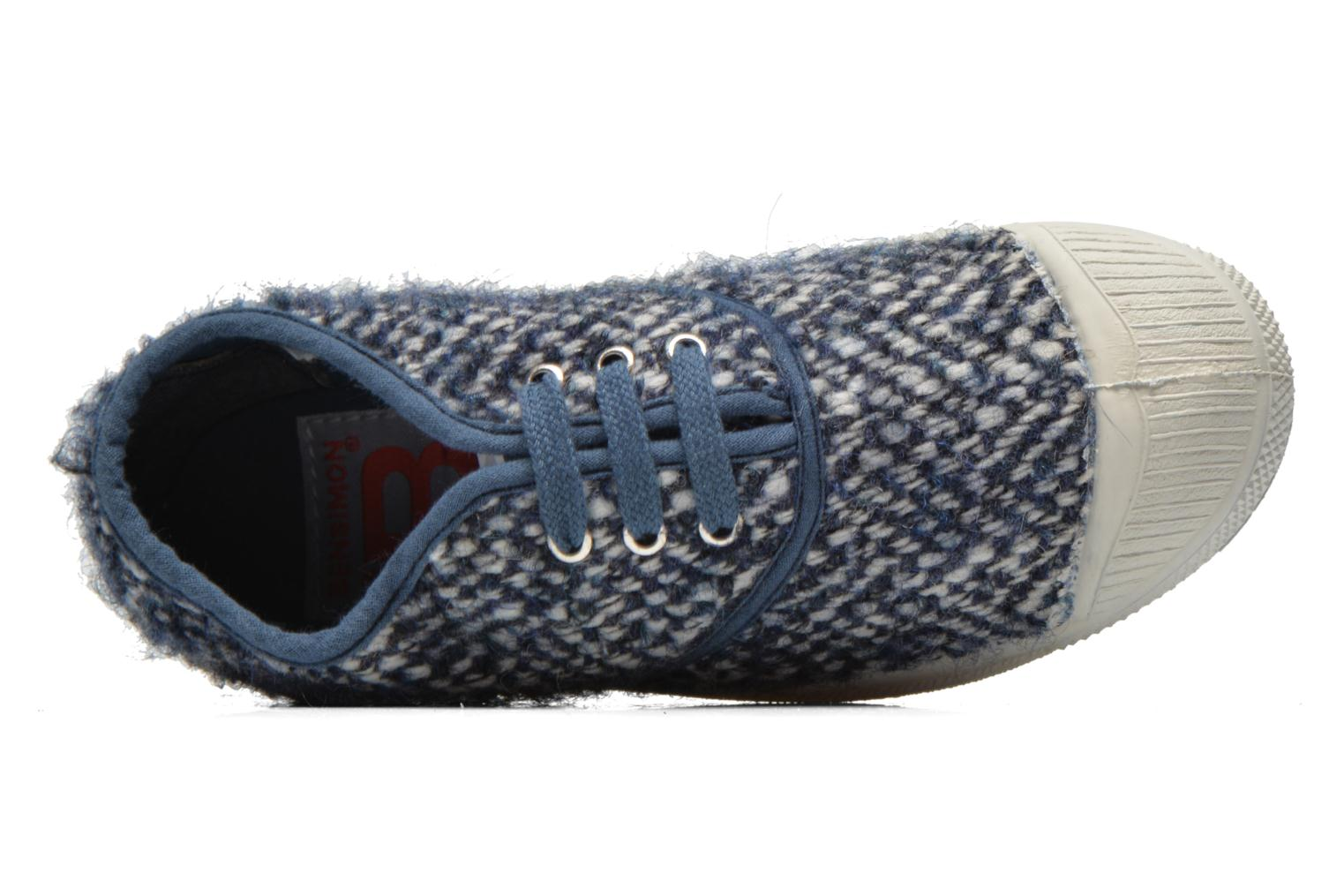 Deportivas Bensimon Tennis Girly Tweed E Azul vista lateral izquierda