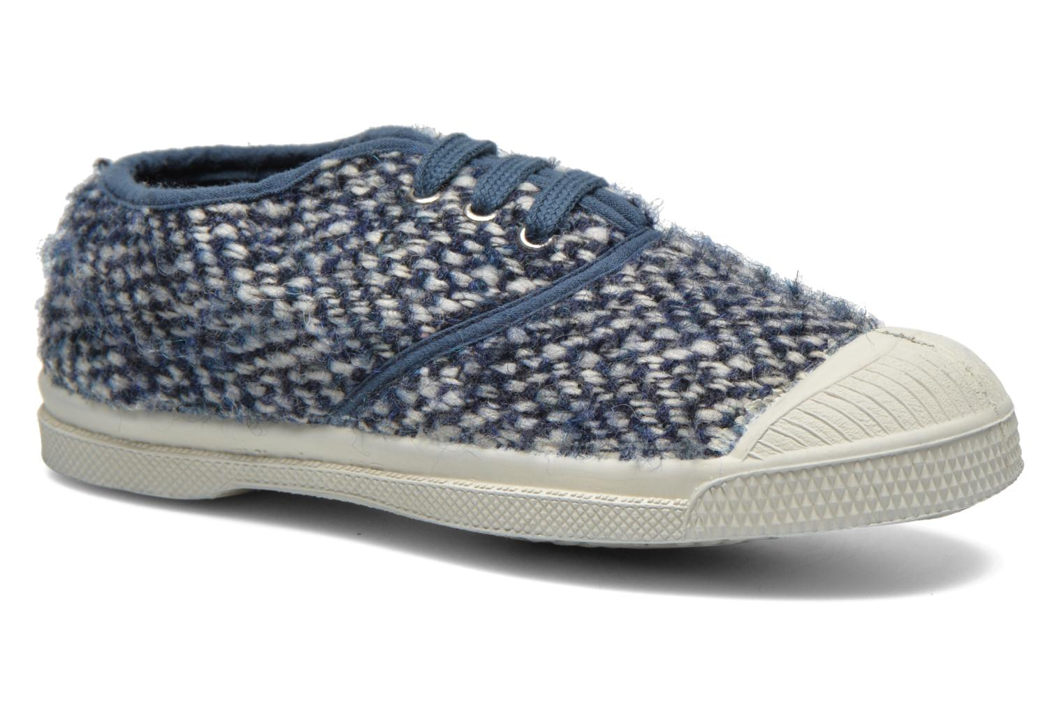 Deportivas Bensimon Tennis Girly Tweed E Azul vista de detalle / par