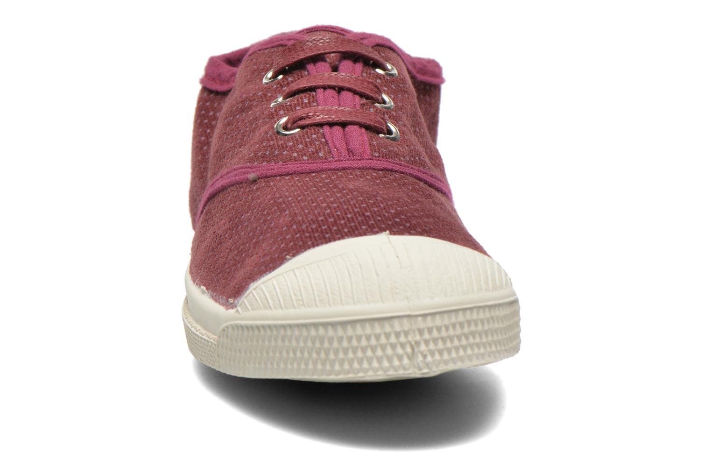 Baskets Bensimon Tennis Velvet Dots Bordeaux vue portées chaussures