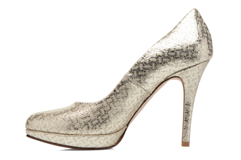 Zapatos de tacón Anna Volodia Copla Oro y bronce vista de frente