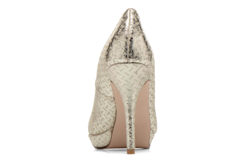 Zapatos de tacón Anna Volodia Copla Oro y bronce vista lateral derecha