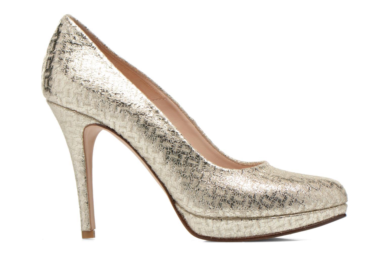Zapatos de tacón Anna Volodia Copla Oro y bronce vistra trasera