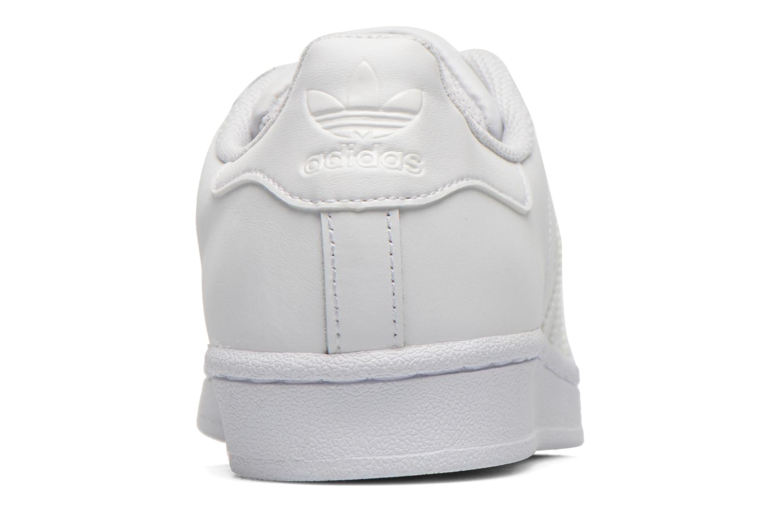 Trainers Adidas Originals Superstar Foundation W White view from the right