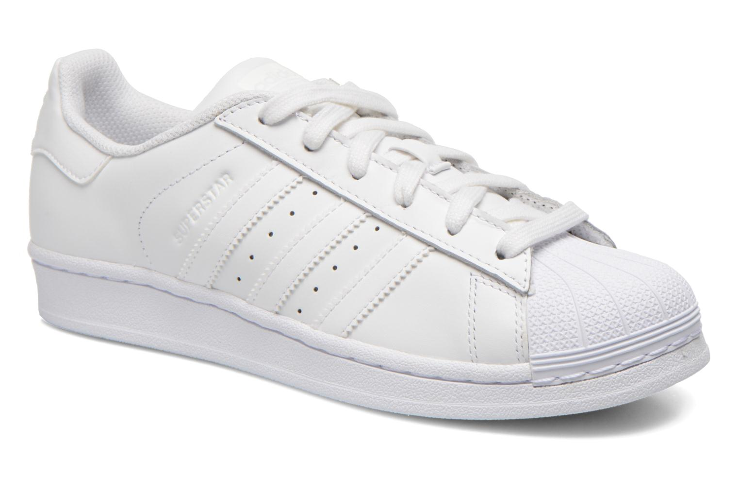 Baskets Adidas Originals Superstar Foundation W Blanc vue détail/paire