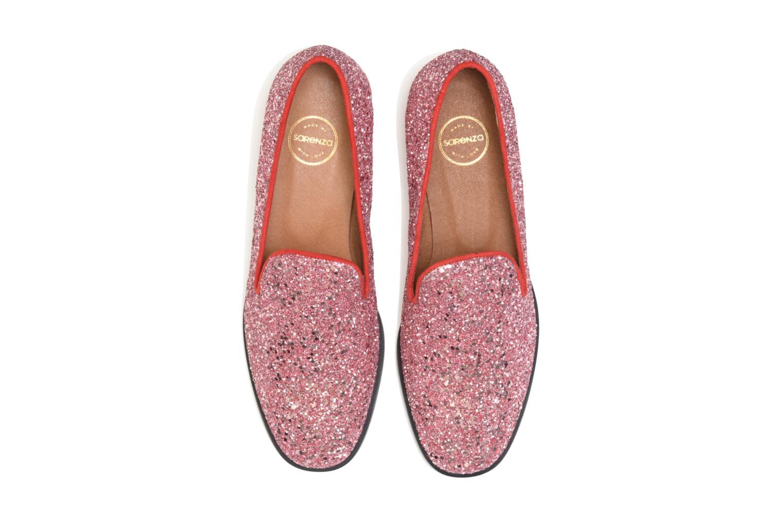 Mocassins SARENZA HAPPY10 Merry Mocassin Rouge vue portées chaussures