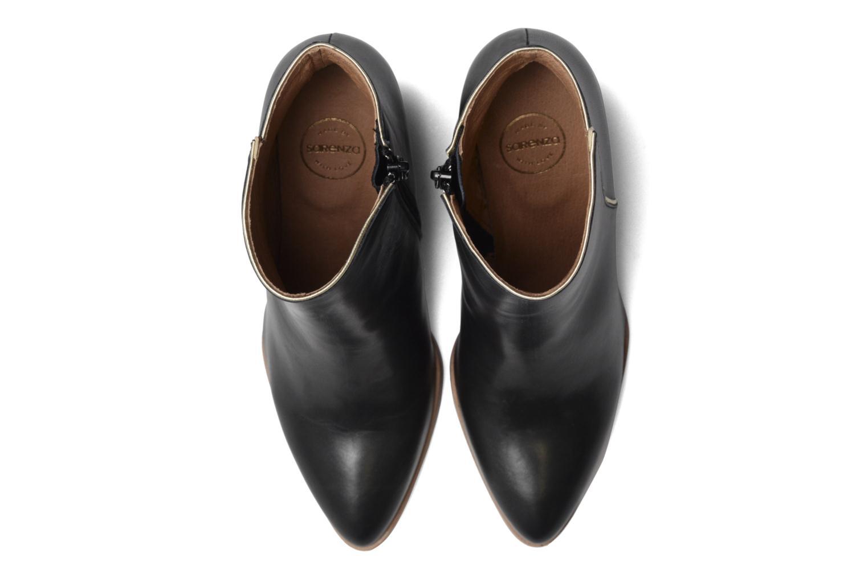 Boots Camp #11 Cuir Lisse Noir