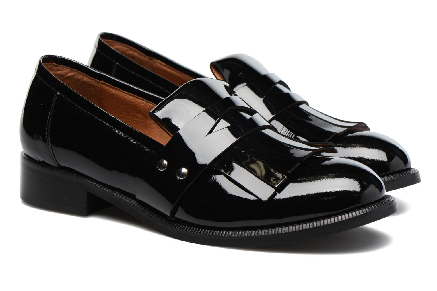 Loafers Made by SARENZA Vegas Lipstick #3 Black back view