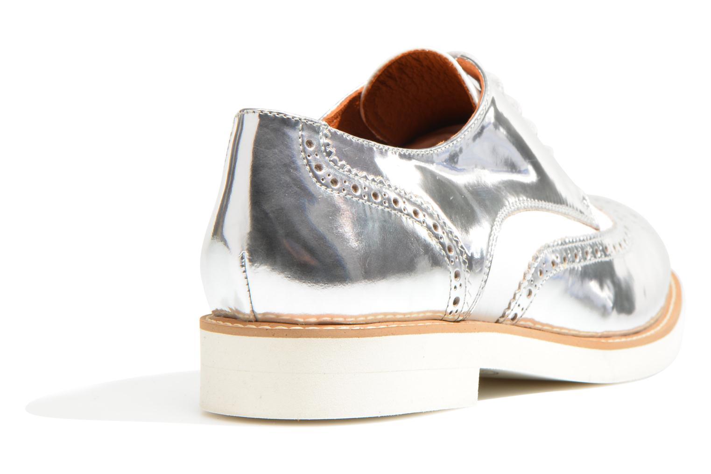 Zapatos con cordones Made by SARENZA Busy Girl Chaussures à Lacets #3 Plateado vista de frente