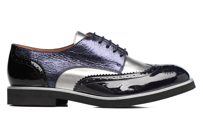 Marques Chaussure femme Made by SARENZA femme Busy Girl Chaussures à Lacets #3 Cuir Vernis Noir / Métalisé Fushia / Glitter