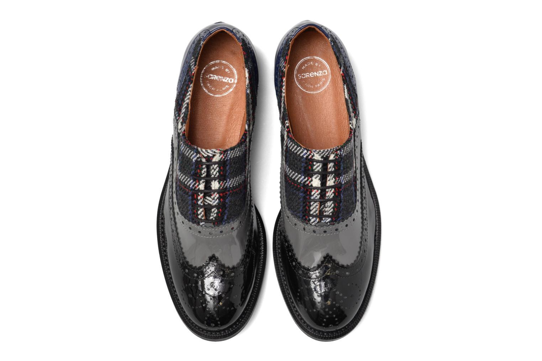 90's Girls Gang Chaussures à Lacets #5 Verniz noir + verniz gris + Verniz bleu