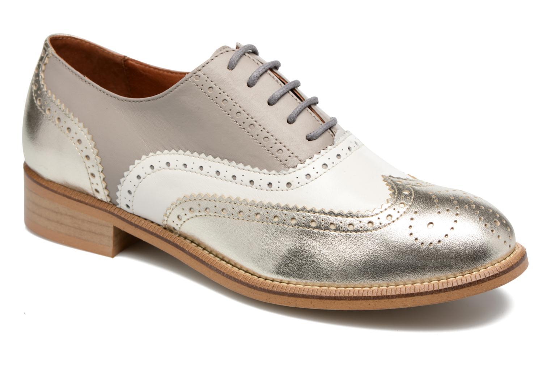 90's Girls Gang Chaussures à Lacets #5 Galami argent + Mescai blanc + mescai gris