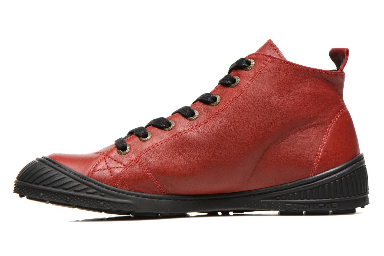 Sneaker Pataugas RockerN rot ansicht von vorne