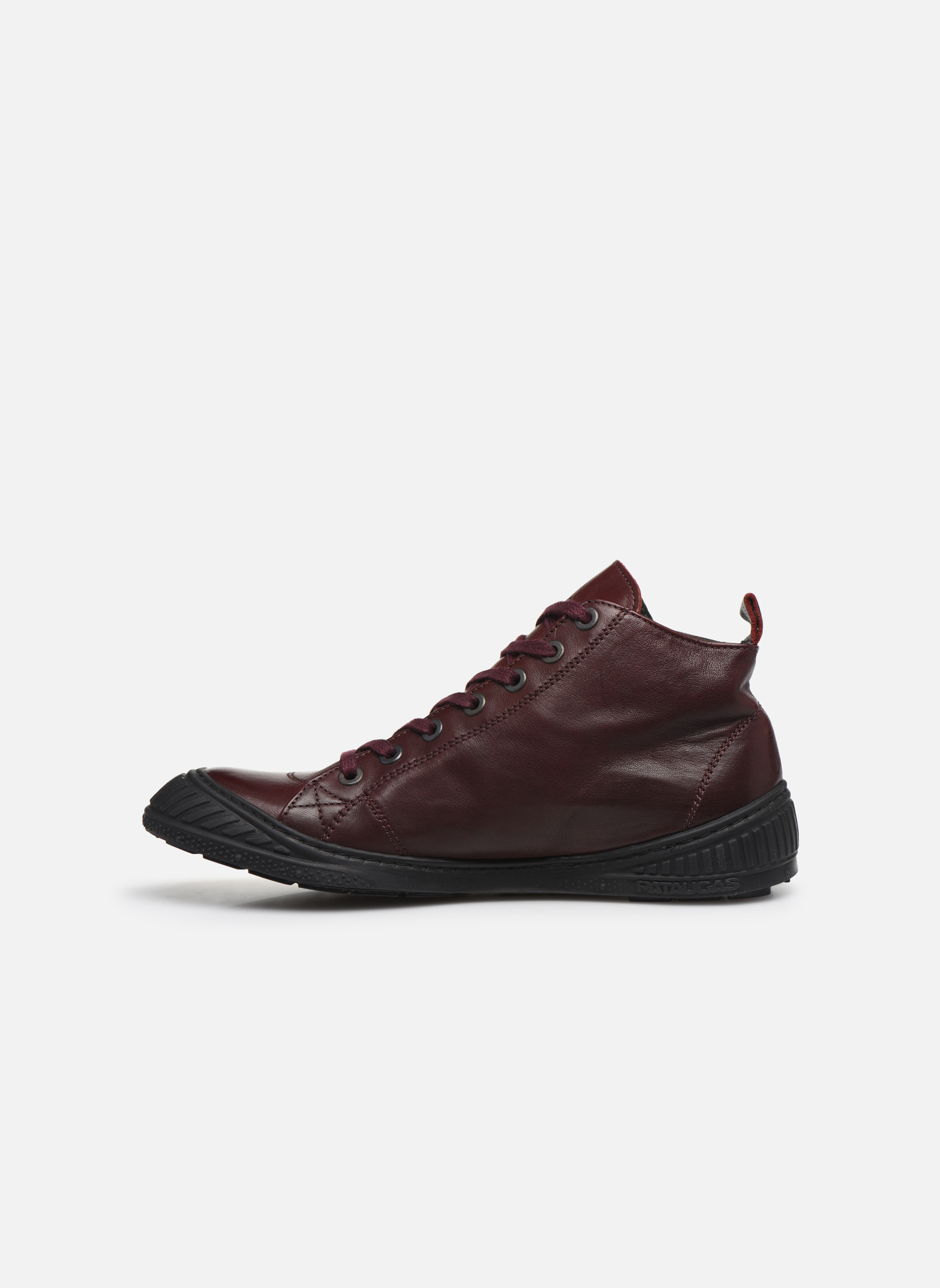 Sneakers Pataugas RockerN Vinröd bild från framsidan