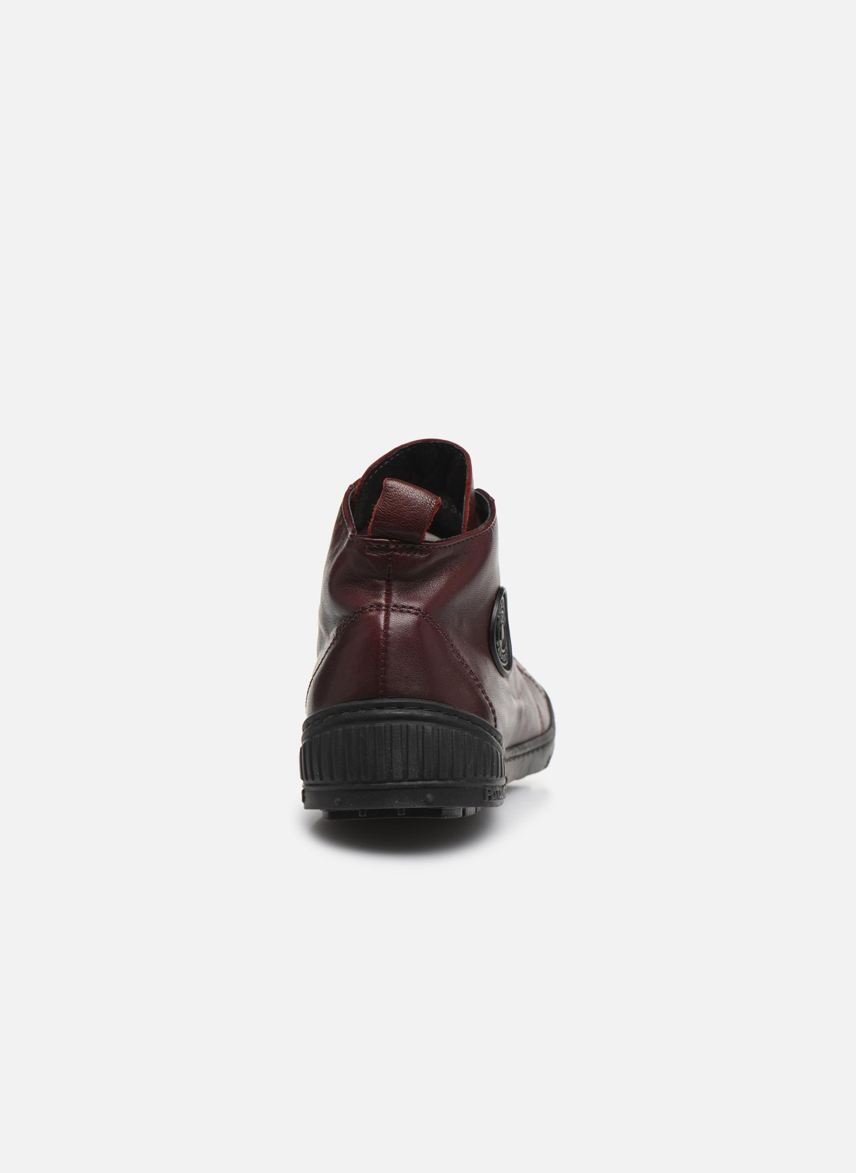 Sneakers Pataugas RockerN Vinröd Bild från höger sidan