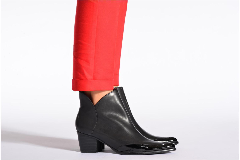 Bottines et boots Madison Ayanda Verni NOIRVo NOIR Noir vue bas / vue portée sac