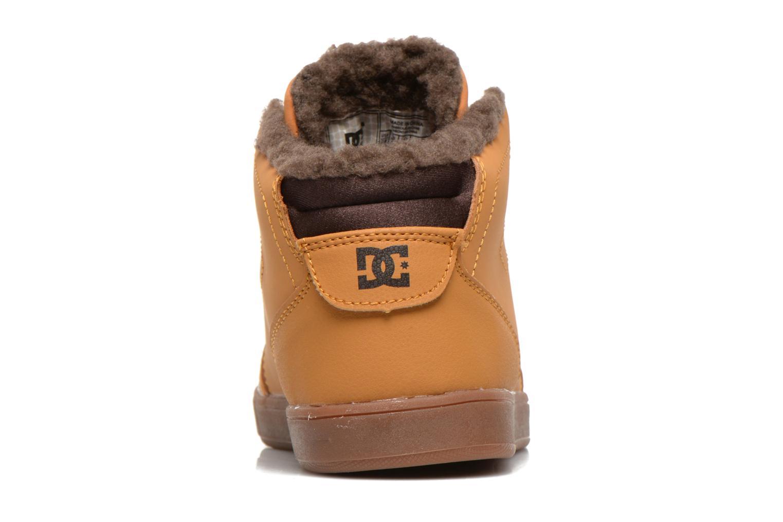 Sneaker DC Shoes CRISIS HIGH WNT beige ansicht von rechts
