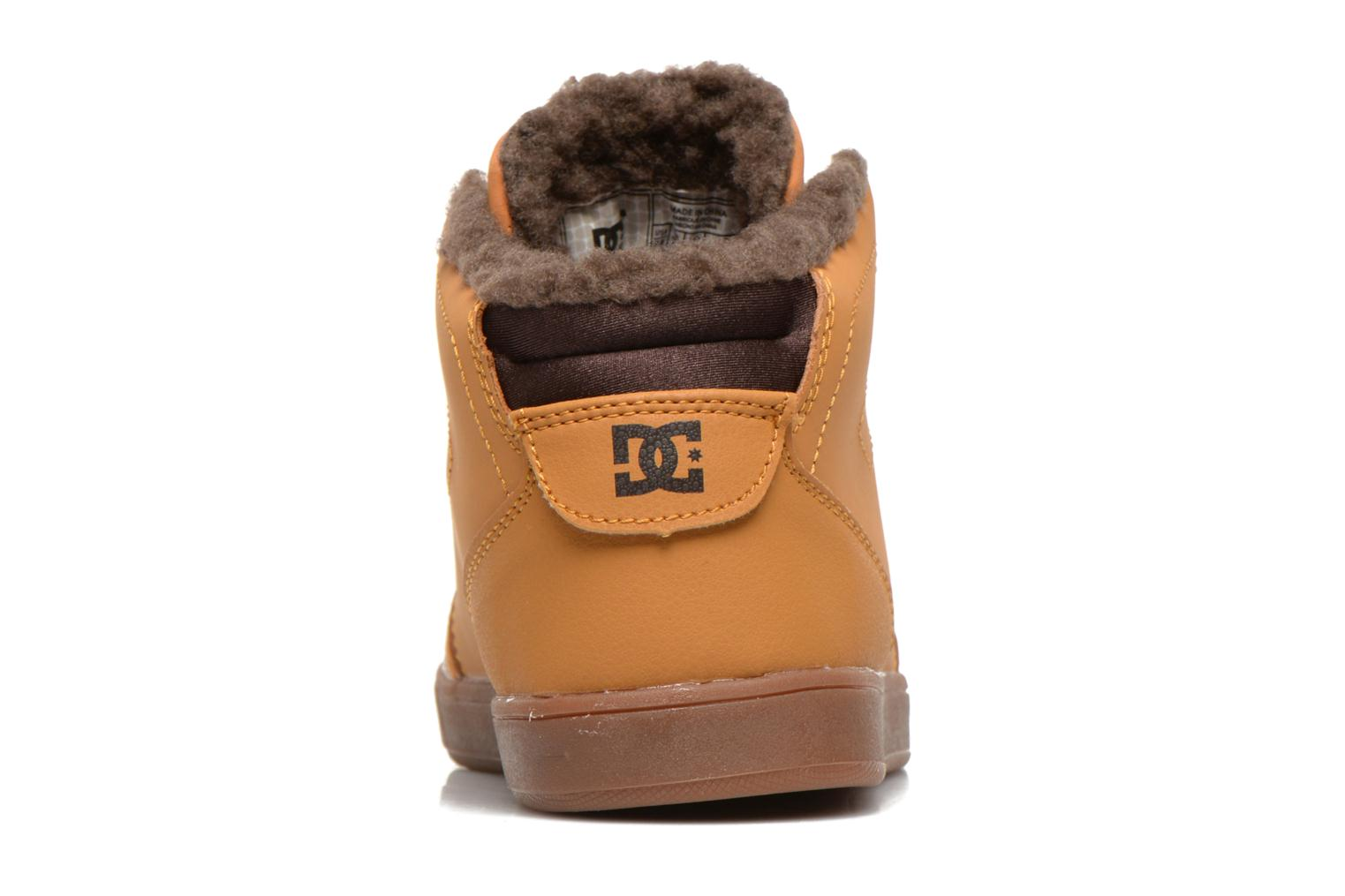 Sneakers DC Shoes CRISIS HIGH WNT Beige immagine destra