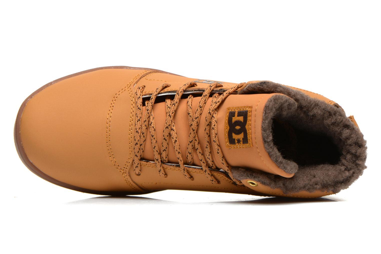 Sneaker DC Shoes CRISIS HIGH WNT beige ansicht von links