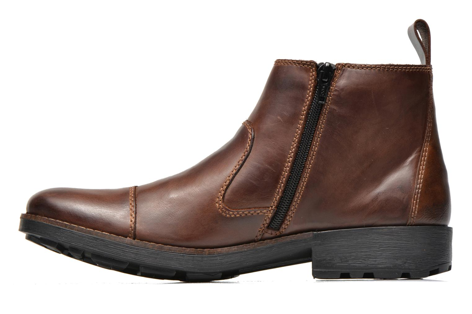 Ankle boots Rieker Petro 36050 Brown front view