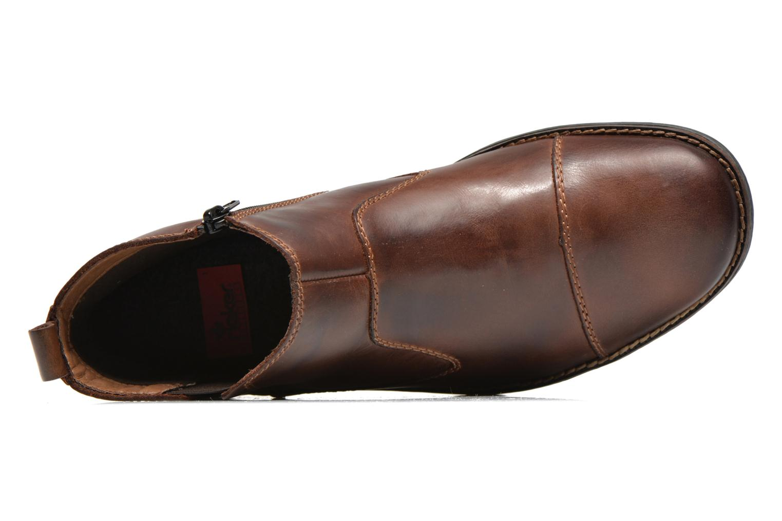 Ankle boots Rieker Petro 36050 Brown view from the left