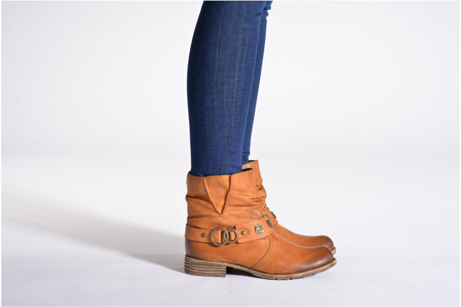 Ankle boots Rieker Myla 74798 Brown view from underneath / model view