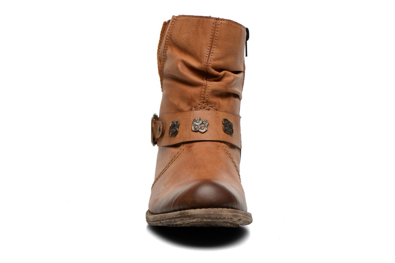 Bottines et boots Rieker Myla 74798 Marron vue portées chaussures