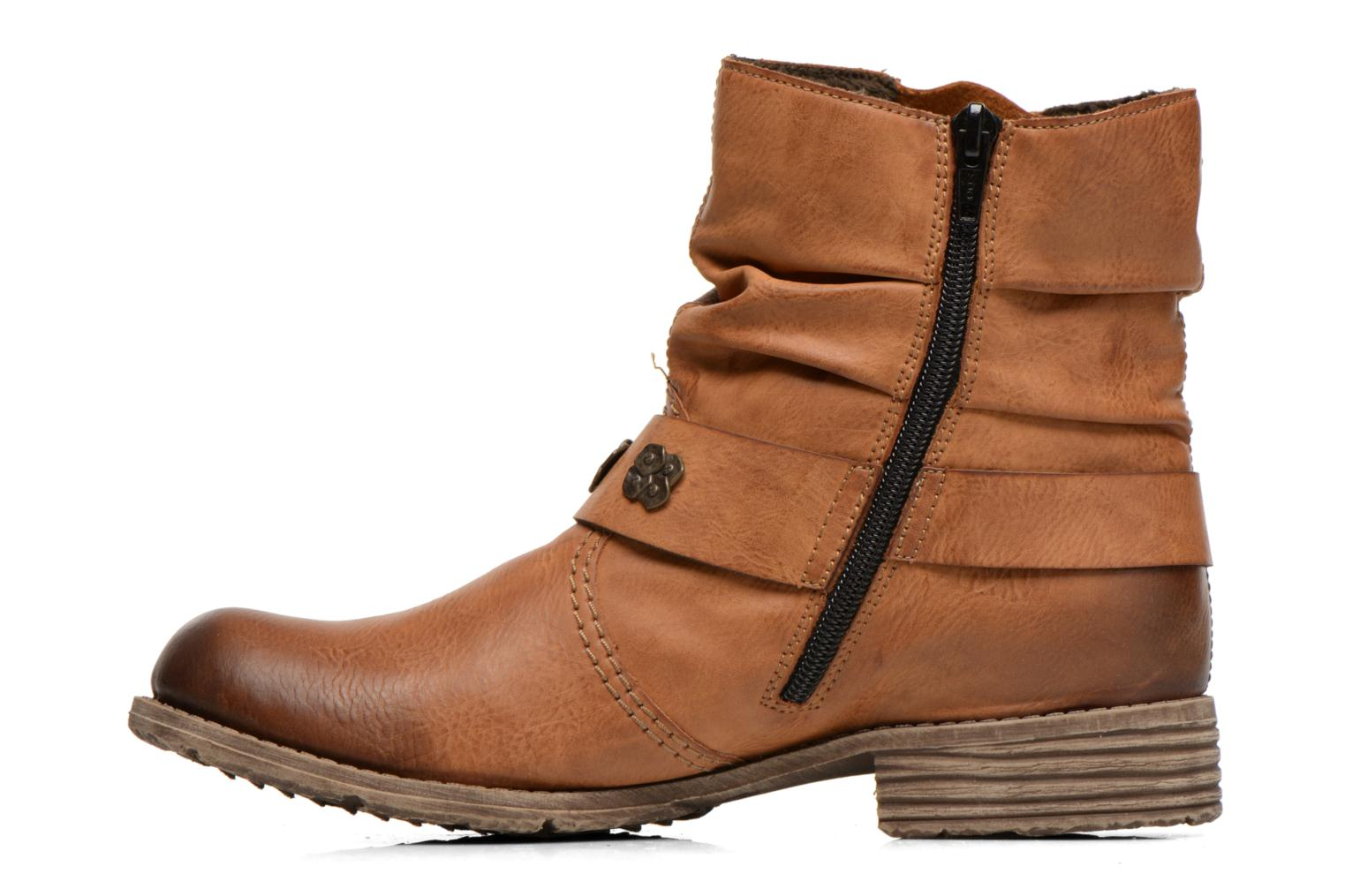 Ankle boots Rieker Myla 74798 Brown front view