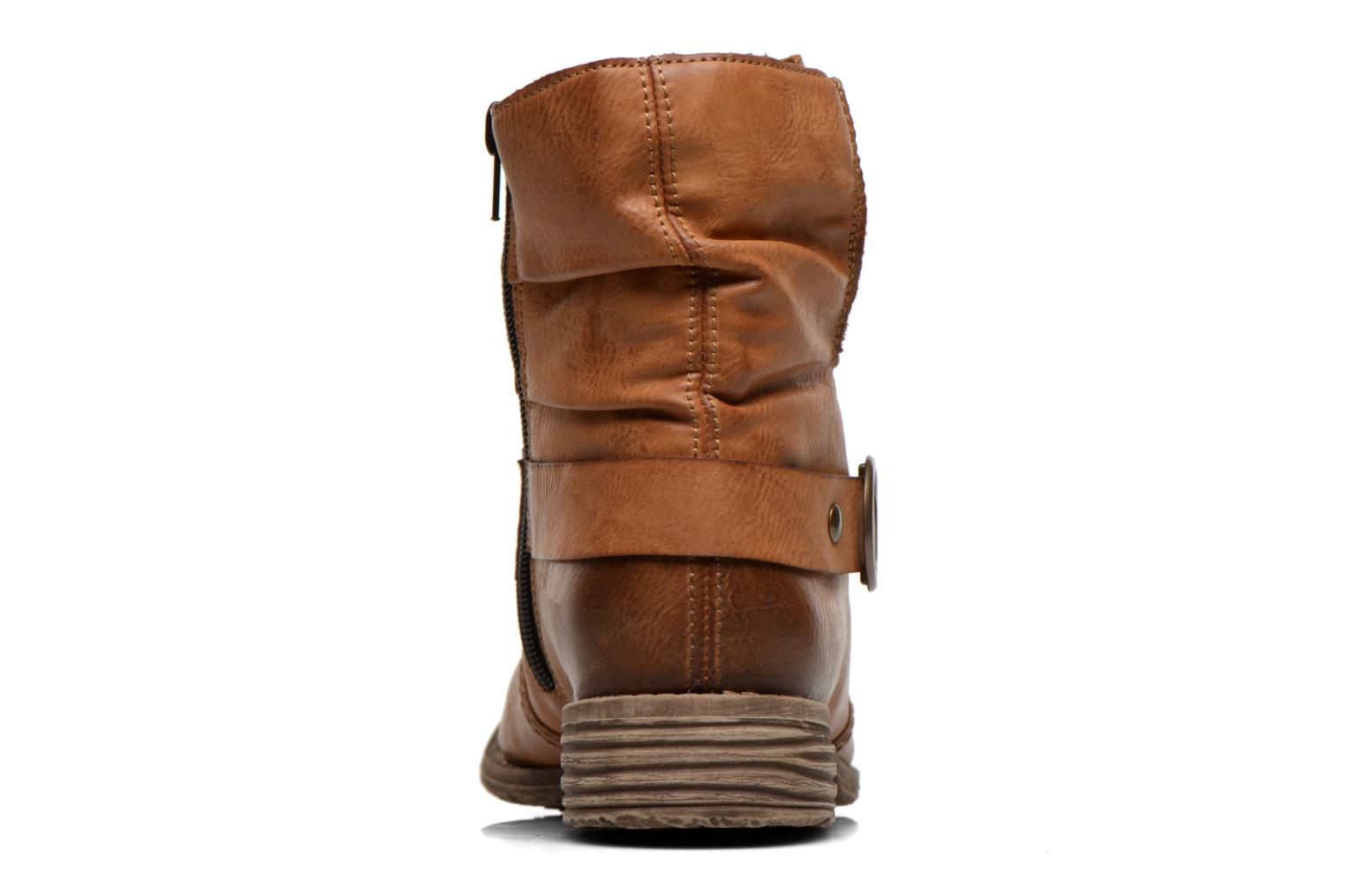 Ankle boots Rieker Myla 74798 Brown view from the right