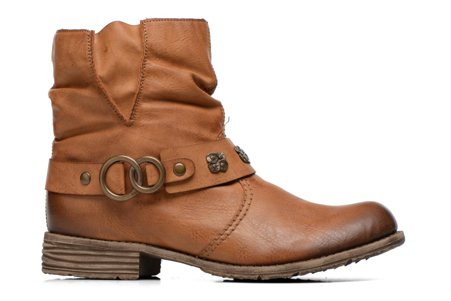 Ankle boots Rieker Myla 74798 Brown back view